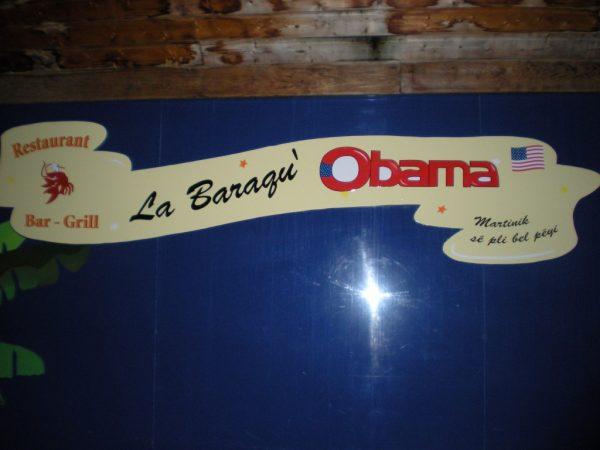 La Baraqu' Obama, restaurant, St Luce, Martinique