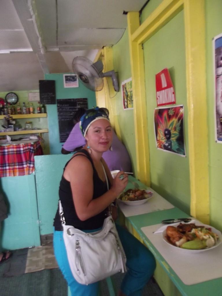 Dominica food, Marloe's restaurant, Roseau