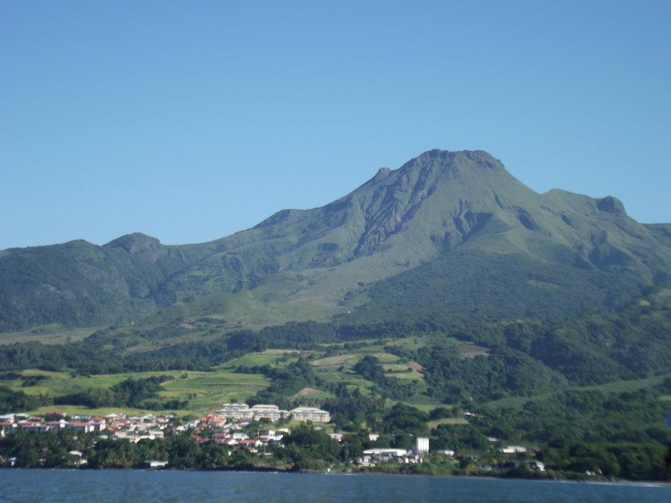 La montagne Pelée, Mount Pelee, Martinique, St Pierre