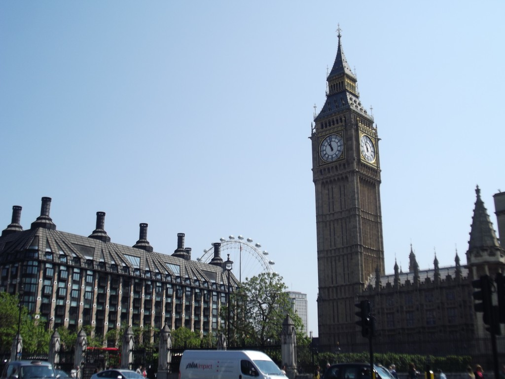 Big Ben and Portcullis House, London
