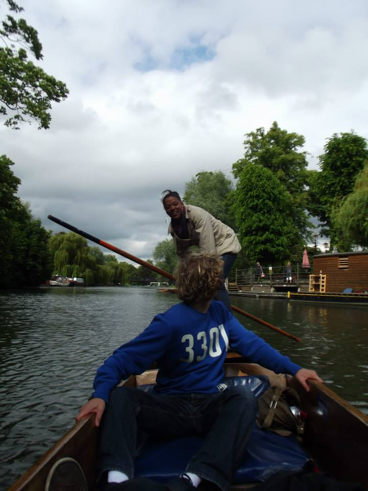 Punting in Cambridge, moving abroad for love