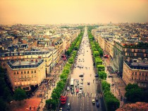 View from Arc de Triomphe, Champs d'Elysee, Paris