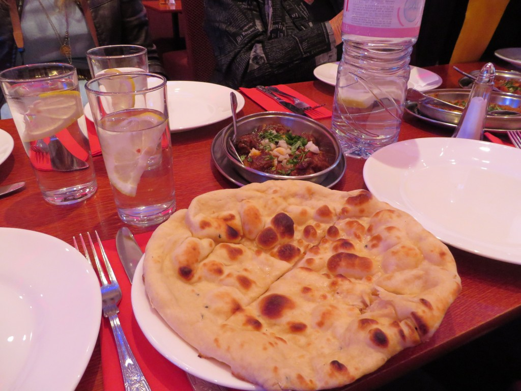 Naan bread at Aladin, Brick Lane, London