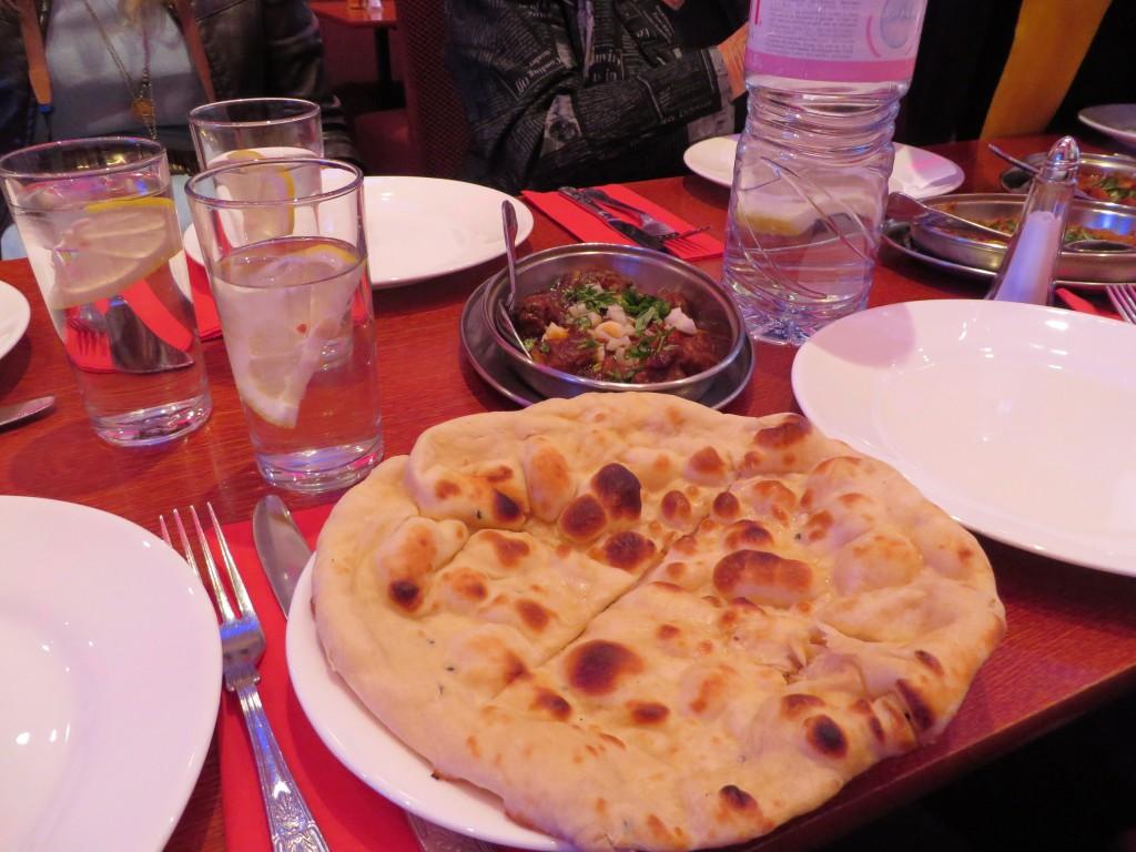 Naan bread at Aladin, Brick Lane, London