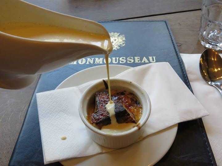 bread pudding, The English restaurant