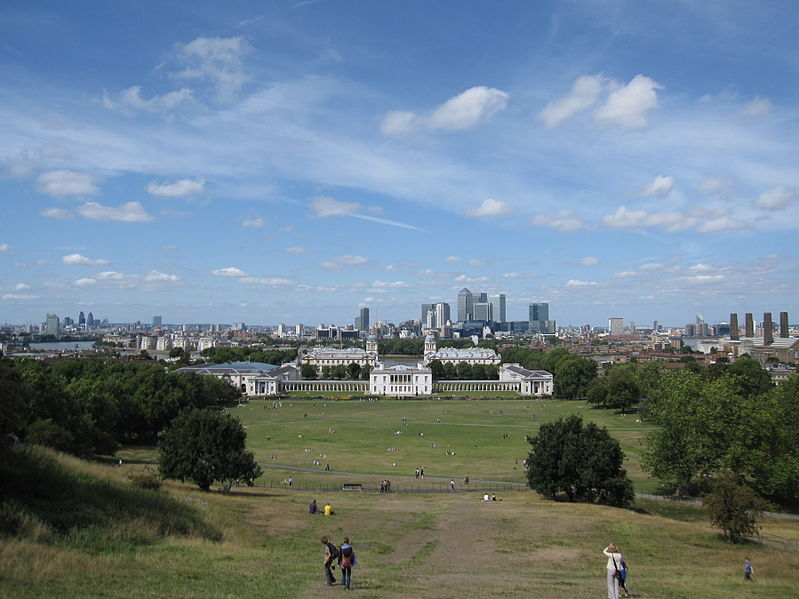 View of City of London from Greenwich Park