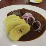 Mmm.. Venison goulash at Prague airport