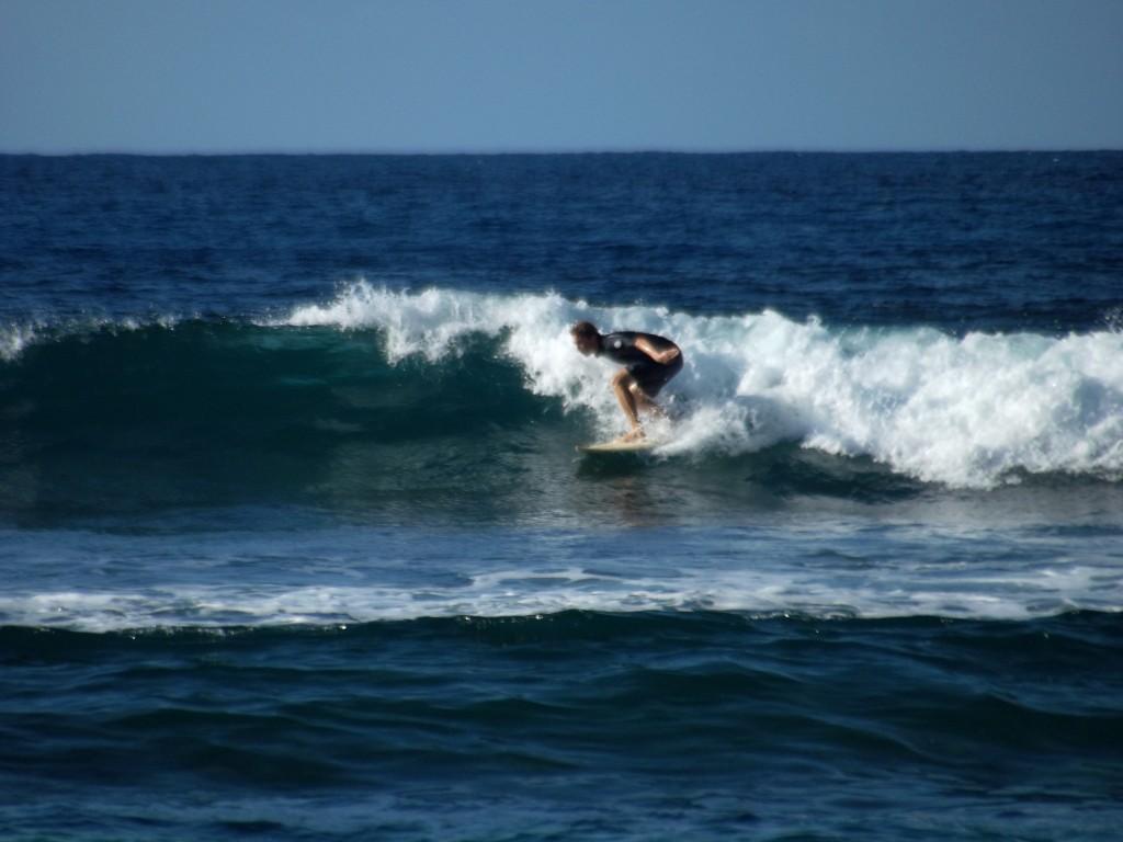 Surfing in Martinique
