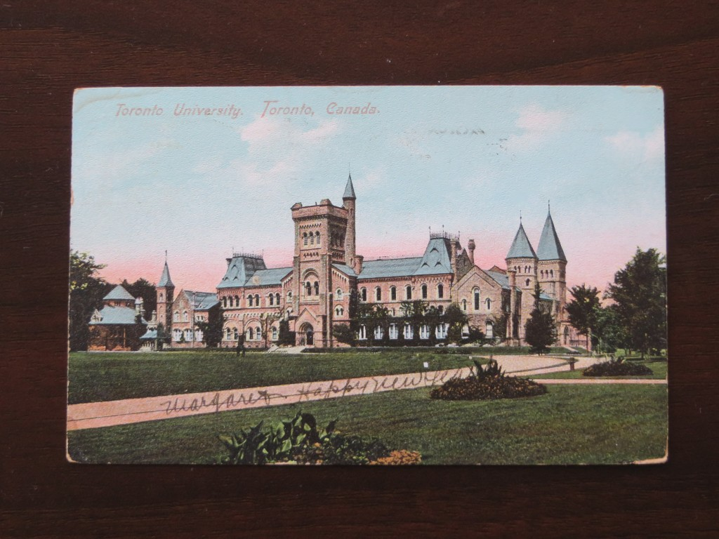 vintage Postcard, University of Toronto, in Prague, Czech Republic