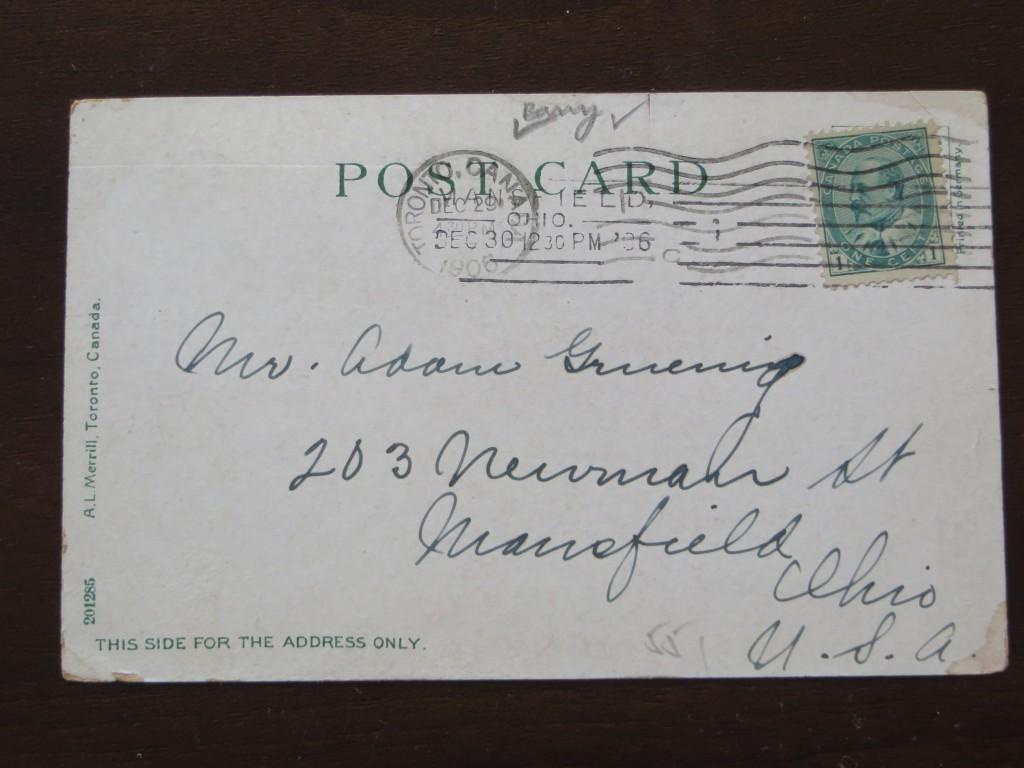 vintage postcard, university of Toronto