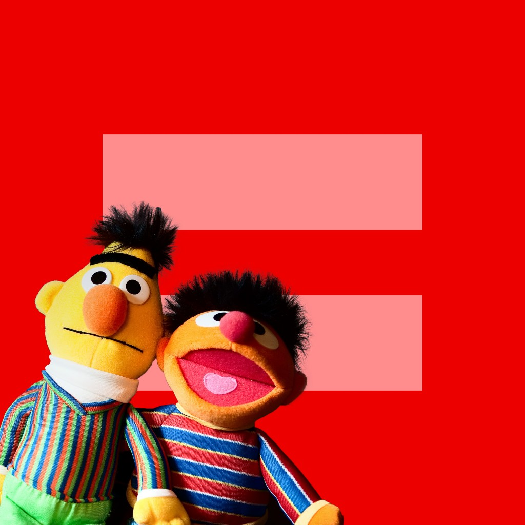 """Bert + Ernie for Marriage Equality"" / Toy Story / SML.20130"