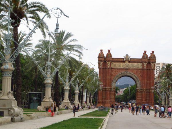 Arc de Triomf, Triumph Arc in Barcelona