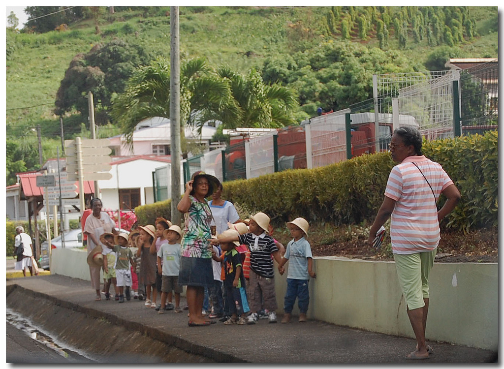 Promenade en cours, ecole Martinique, school in Martinique