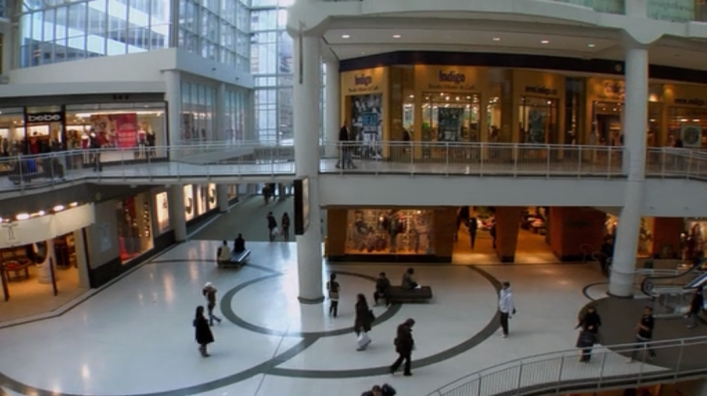 eaton's centre greys anatomy s7 e8 - callie an crisitina go to mall