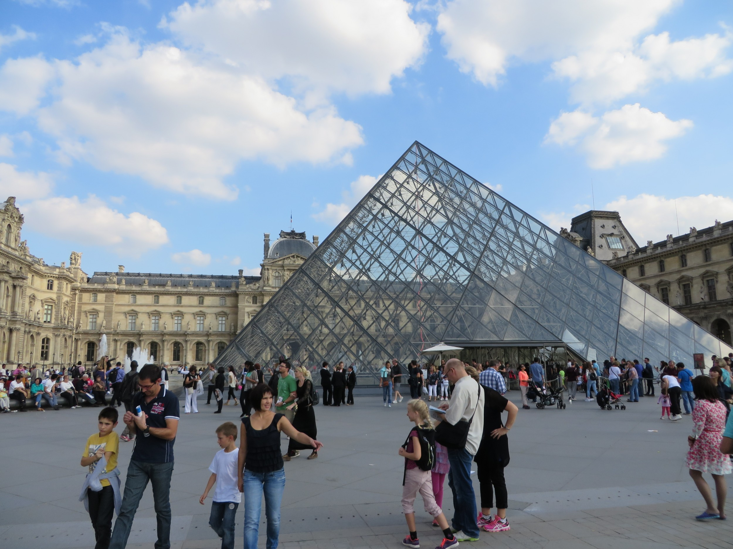 Pyramid outside the Louvre, Paris museum