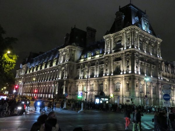Hotel de Ville, Nuit Blanche, Paris