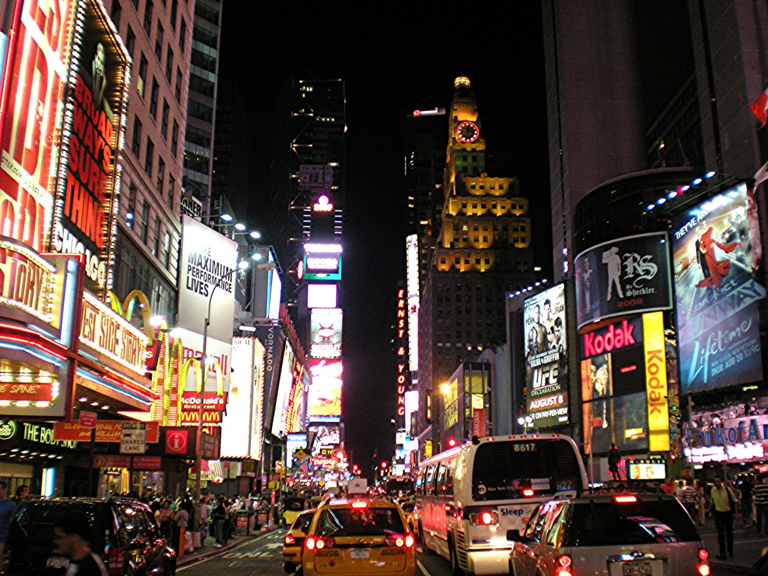 Times Square at Night, best cheap hotels in new york, budget hotels in new york city