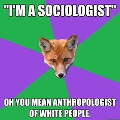 i'm a sociologist