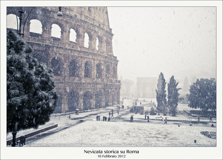 nevicata storica, rome, historic snowfall, italy in winter, winter in italy, travel