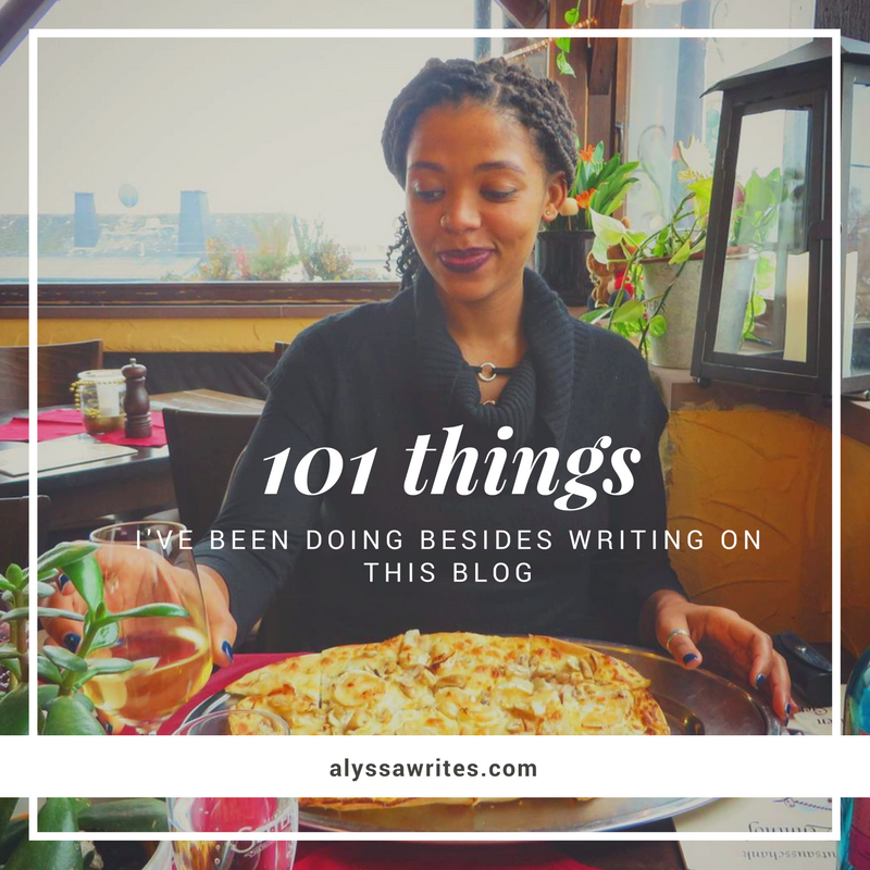 101 things, alyssa writes, blogging, writing, finding inspiration to write